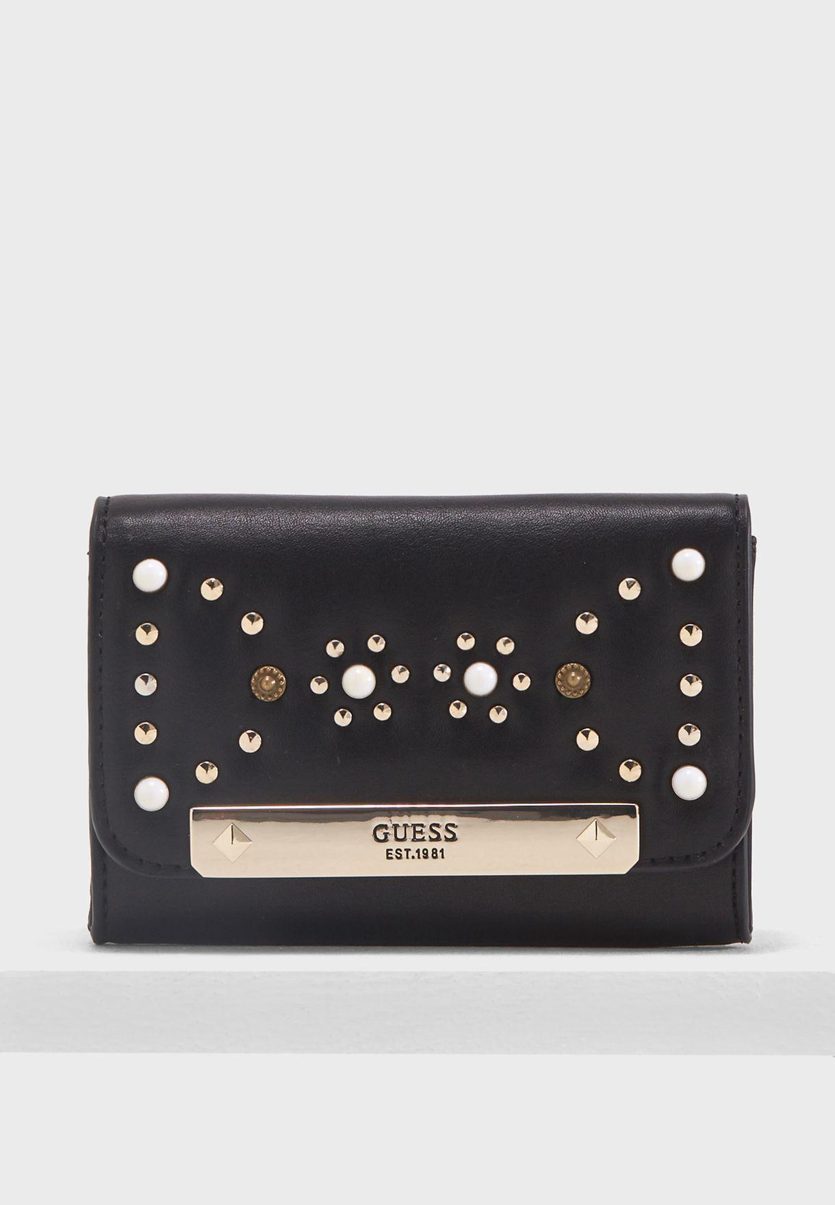 6f5b5303cc Shop Guess black Britta Double Date Purse VS669339BLA for Women in ...
