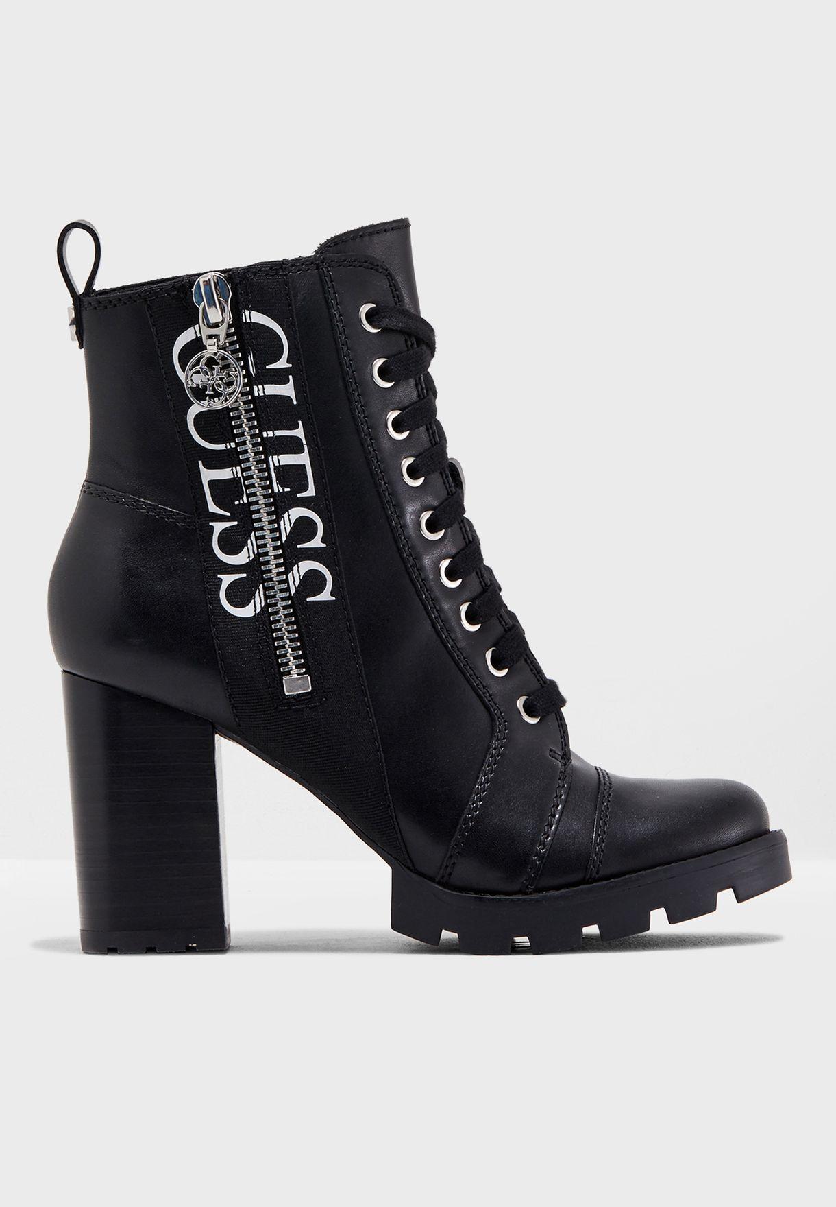 7f6e9aba2678 Shop Guess black Block Heel Boot gwREMEDY for Women in UAE ...