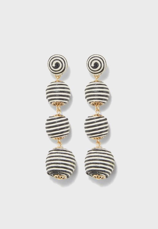 Mono Ball Drop Earrings