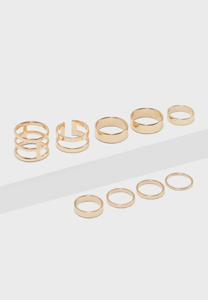 Cutout Stackable Rings Multipack