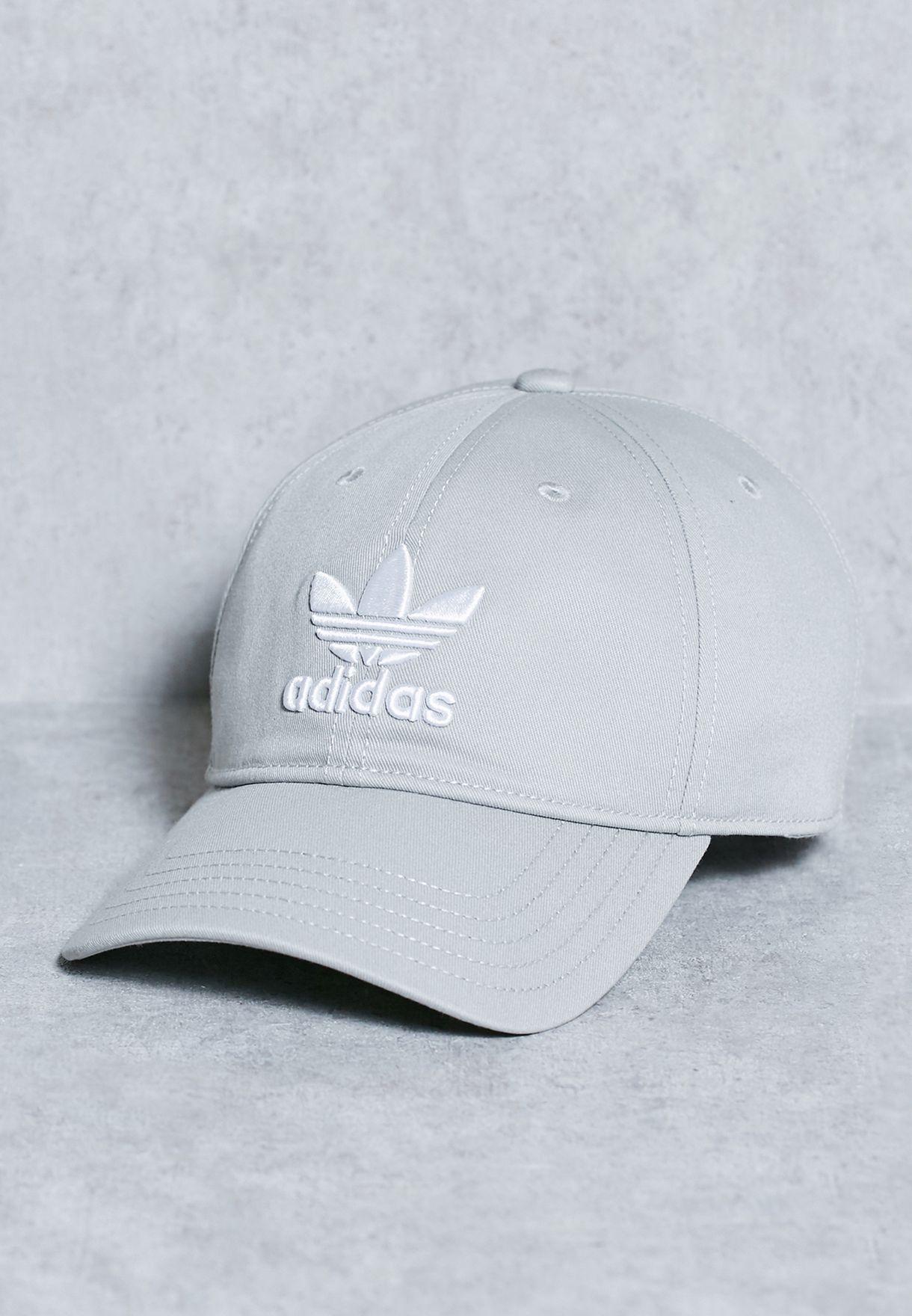 Shop adidas Originals grey Trefoil Cap BK7282 for Men in Kuwait -  AD478AC63LHG 8d4b183d4612