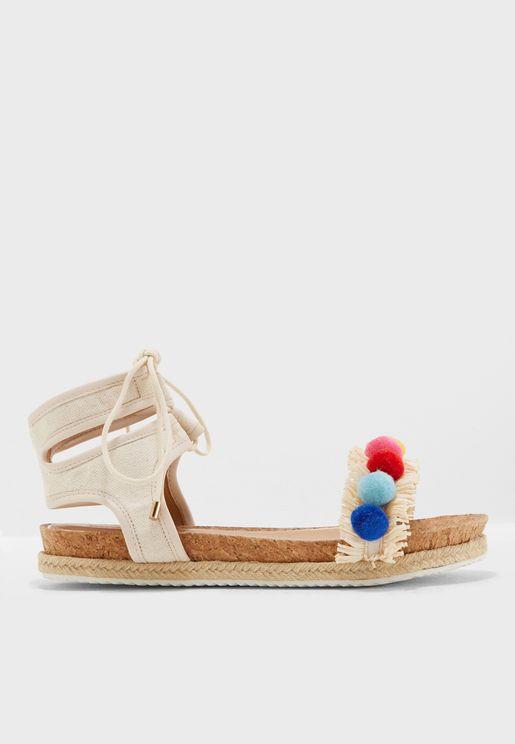 Pebble Tie Up Sandal