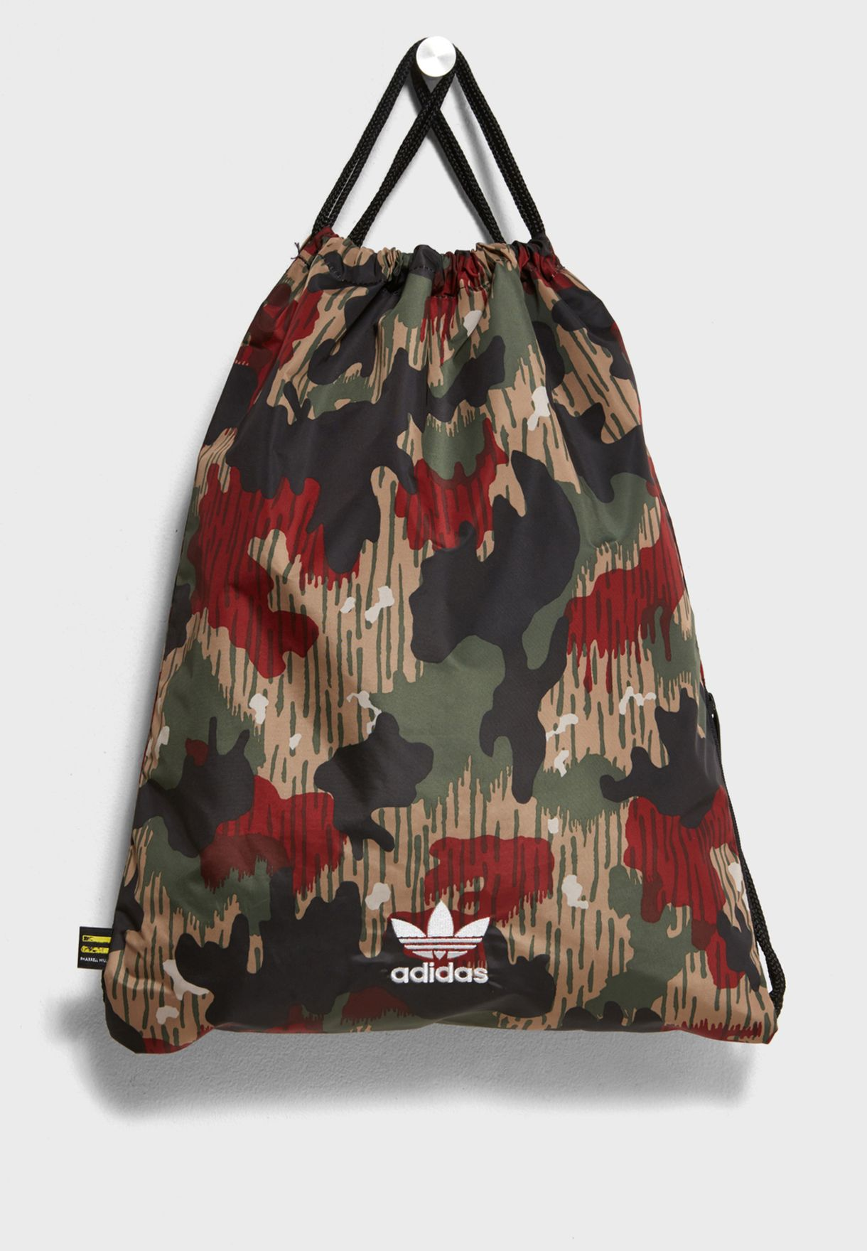 e3dd2f8b50 Shop adidas Originals green Pharrel Hu Gymsack CY9948 for Women in ...