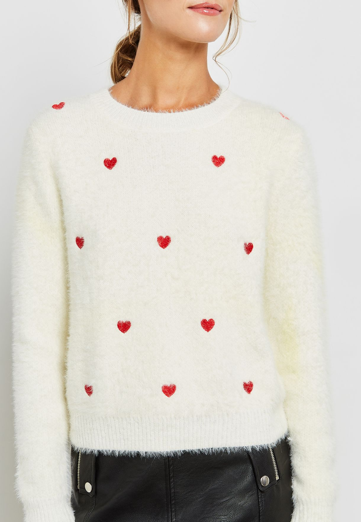 Heart Fuzzy Sweater