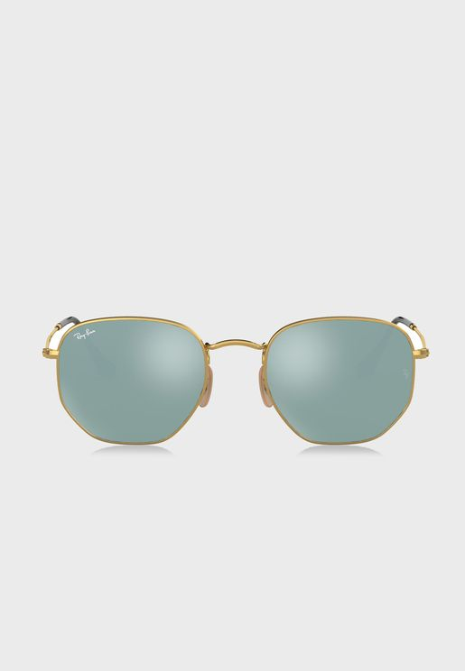 0RB3548N Hexagonal Aviators Sunglasses