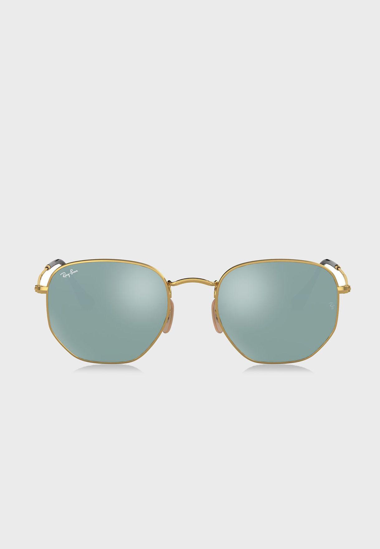 0c41846d6 تسوق نظارة شمسية سداسية ماركة ريبان لون ذهبي 8053672611687 في ...