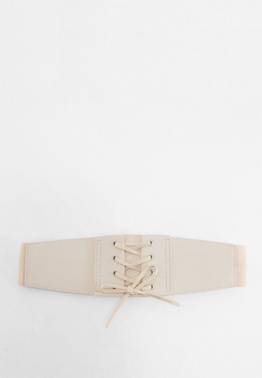 Lace Up Corset Stretch Belt