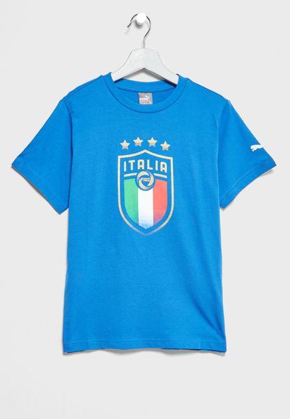 Youth FIGC Italia Fanwear Badge T-Shirt