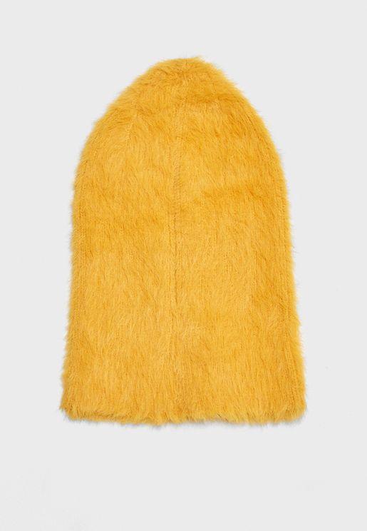 Fuzzy Ribbed Knit Beanie