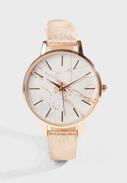 Rose Gold Marble Dial
