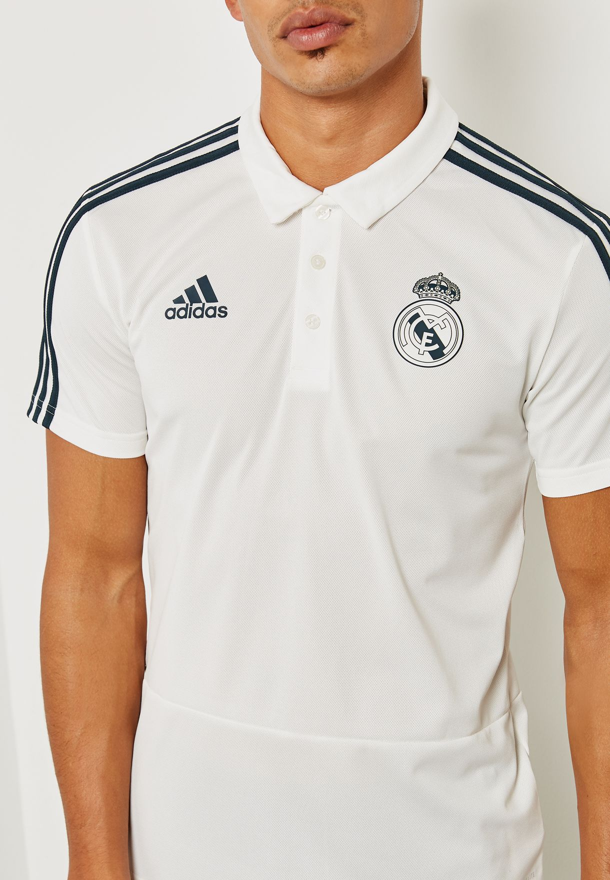 9c962dc1 Shop adidas white Real Madrid Polo CW8669 for Men in Qatar ...