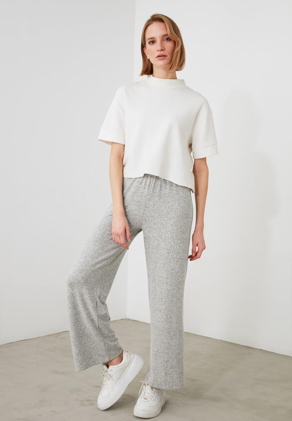 Textured Sweatpants