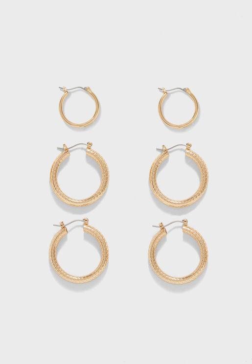 Multipack Tilla Creol Earrings