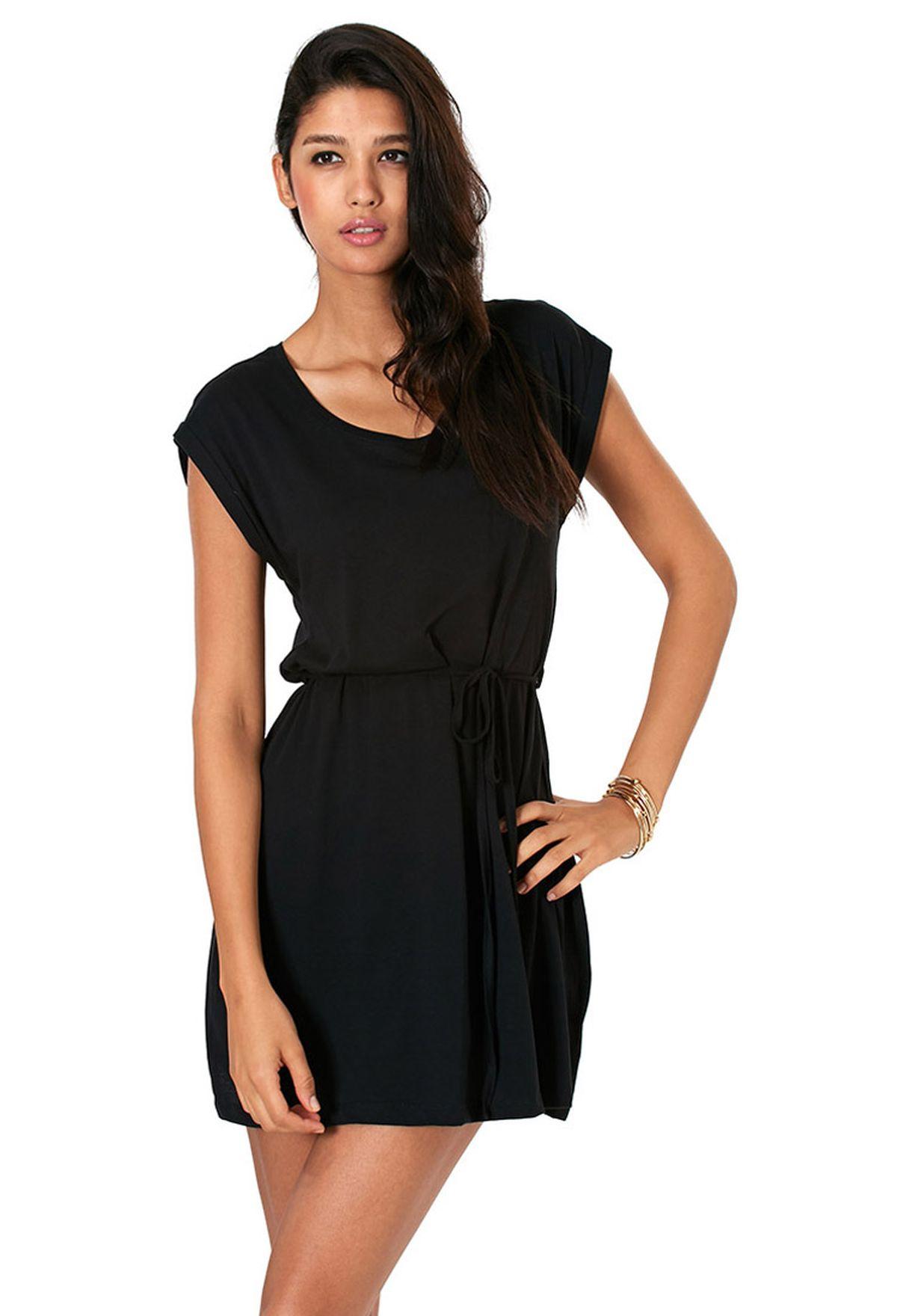 3d1301c83daad Shop Vero Moda black Belted Mini Dress for Women in Qatar - VE758AT63AEE