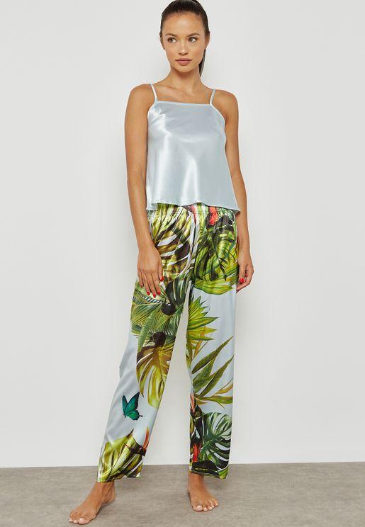 Tropical Print Pyjama Set