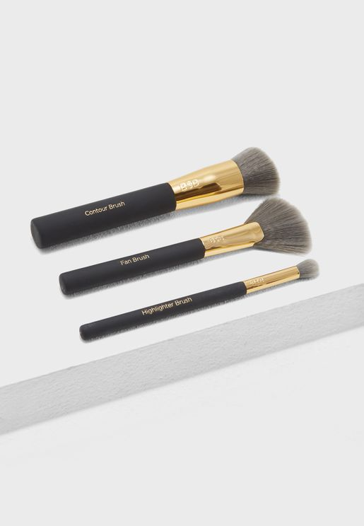 Charcoal Infused Contour Brush Kit