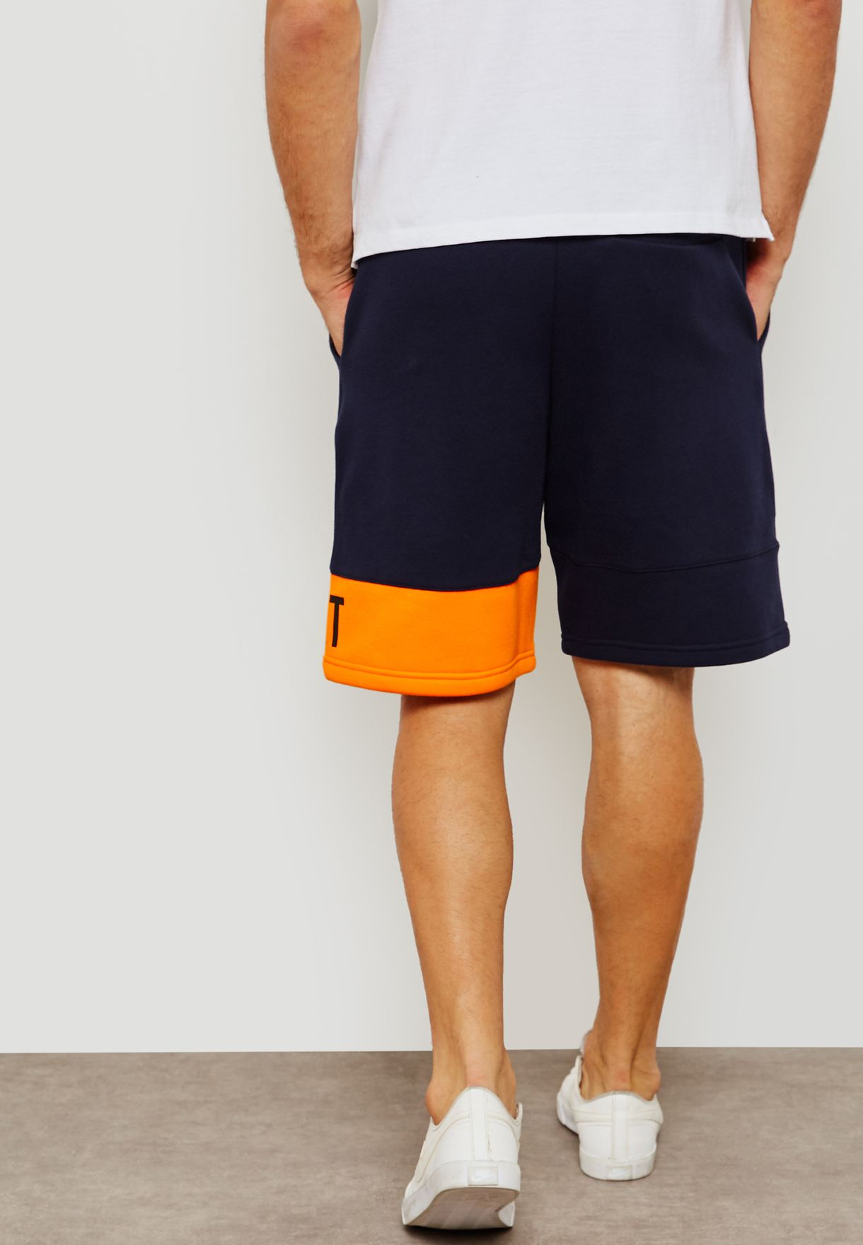 89e9466485f14 Shop Nike navy Court Heritage Shorts 934658-407 for Men in Saudi ...