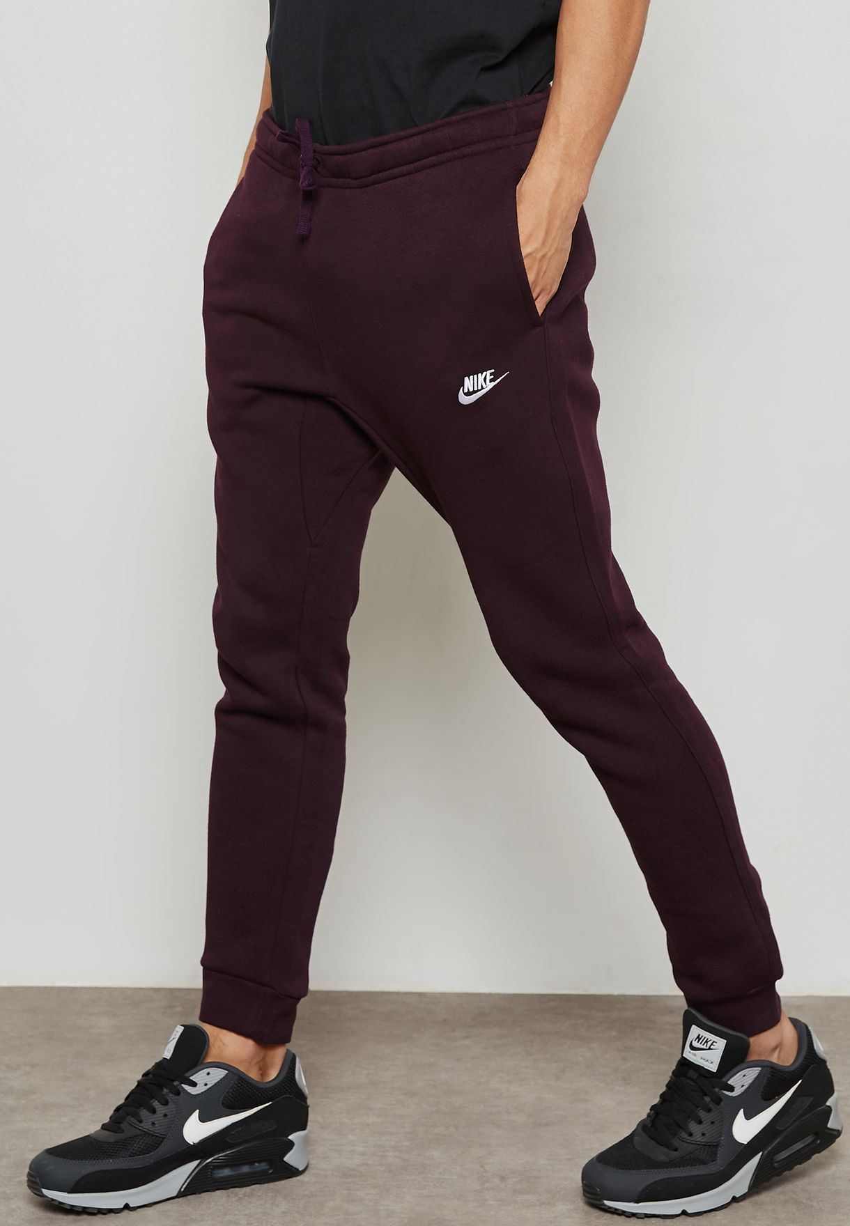 04aef41c2e8e Shop Nike red Club Fleece Sweatpants 804408-652 for Men in UAE ...