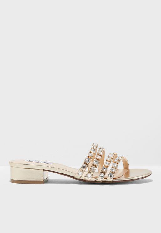 Sophie Embellished Flat Sandals