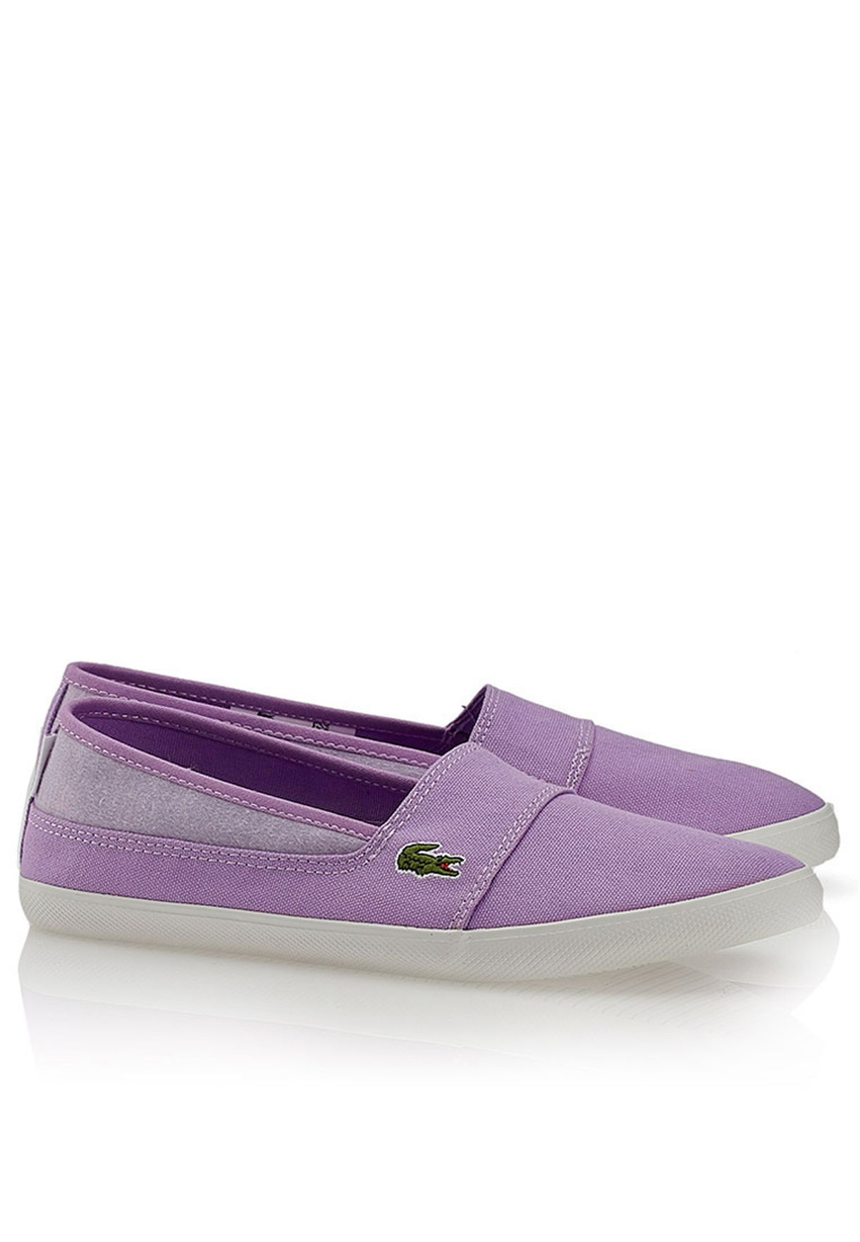 e98c113125928 Shop Lacoste purple Marice ABB Slip Ons 27SPW0112-LT9 for Women in ...