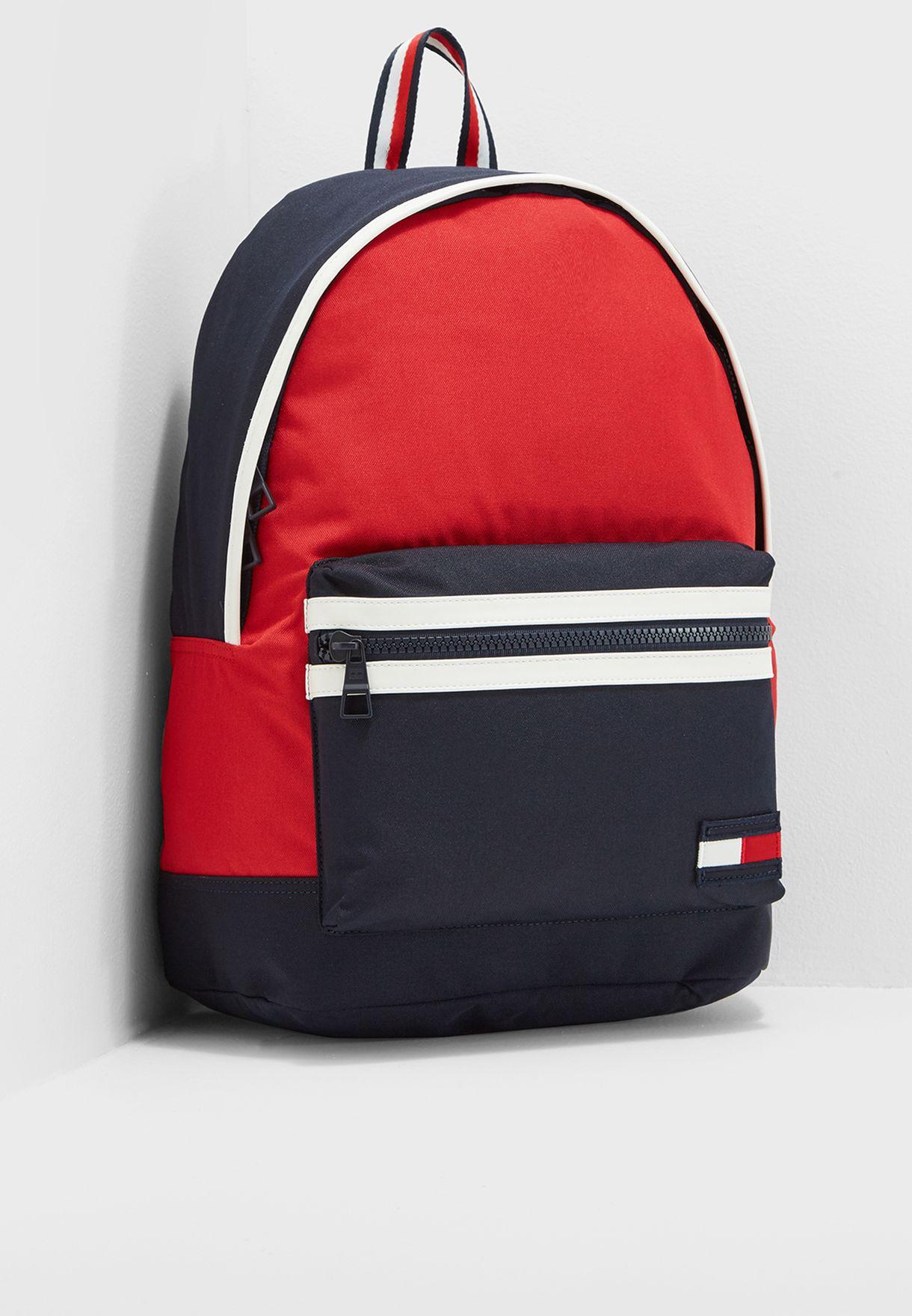08568ef085 Shop Tommy Hilfiger red Tommy Hilfiger Backpack Corporate AM0AM03244 ...