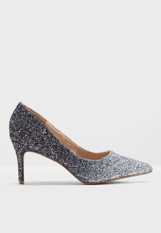 Saige Glitter Pumps
