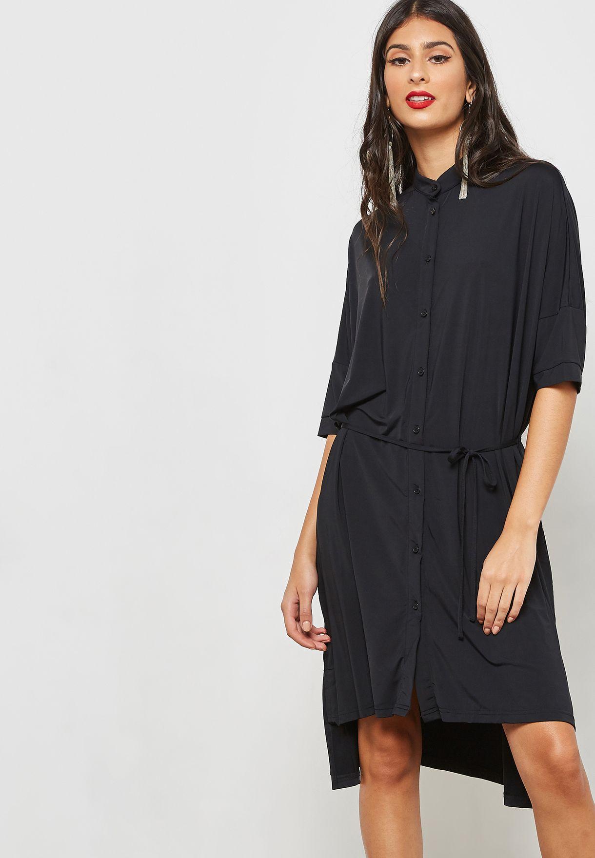 d927d42d8 تسوق فستان بنمط قميص ماركة جينجر لون أسود D1-J في الامارات ...