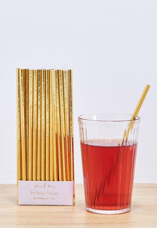 Foil Straws 24pcs