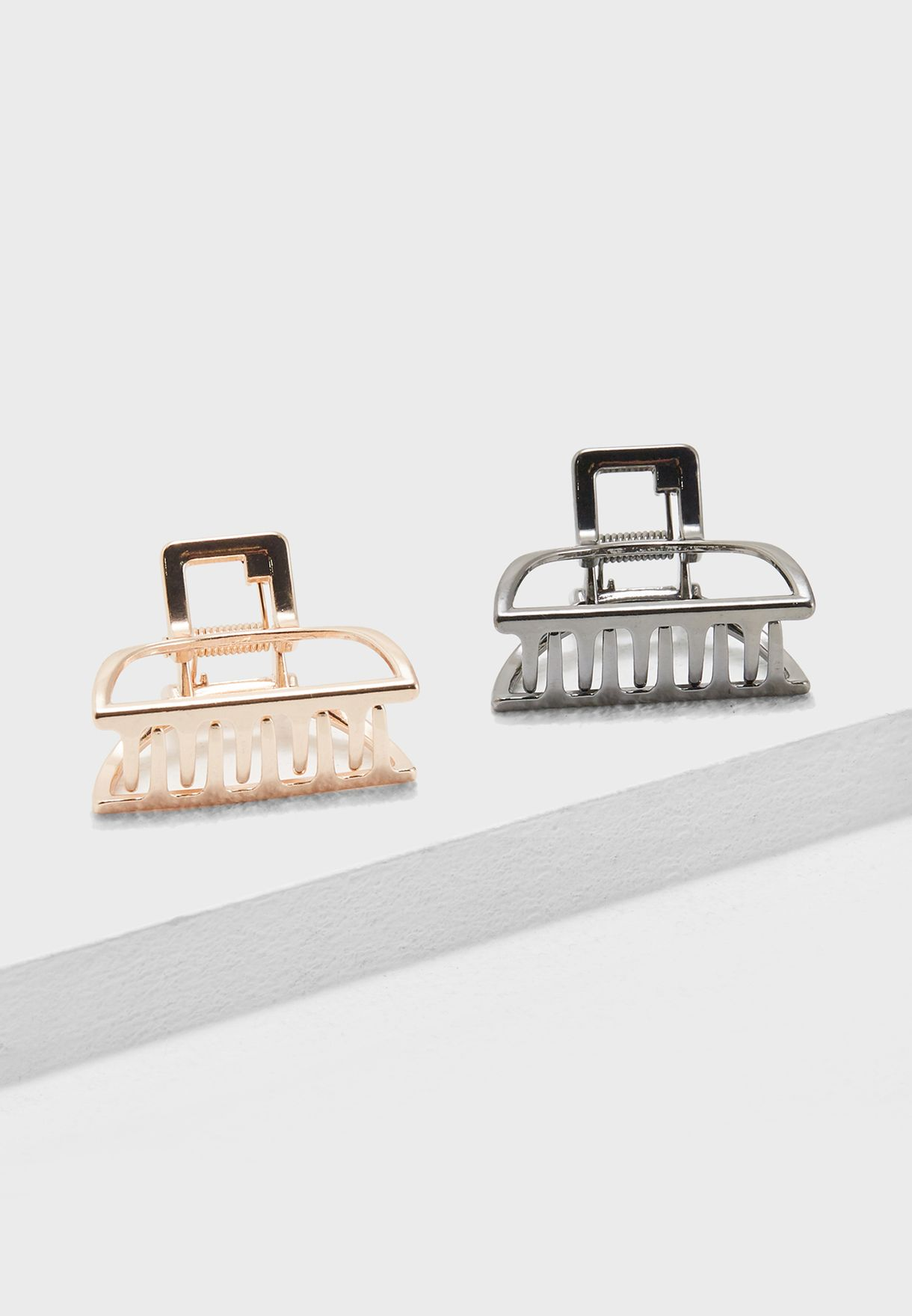 2 Pack Clips In Metallic