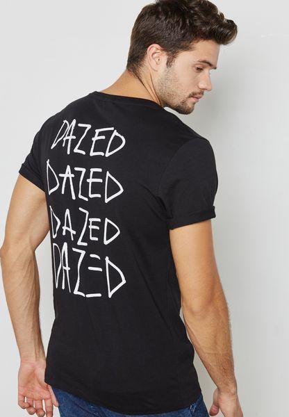 Dazed Back Print T-Shirt