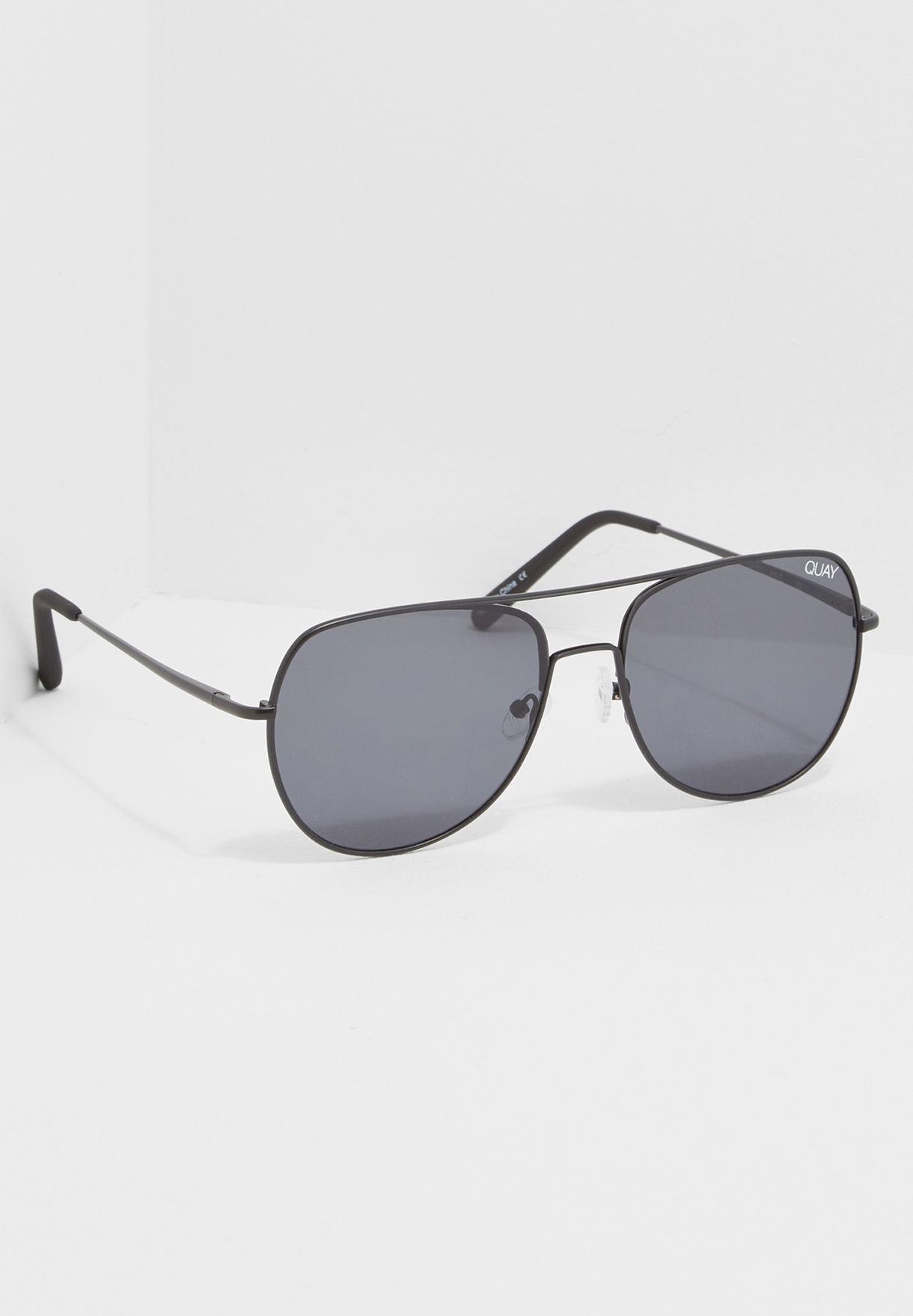 8d505c4bdcb11 Shop Quay Australia black Living Large Sunglasses QM-000200 for Men ...