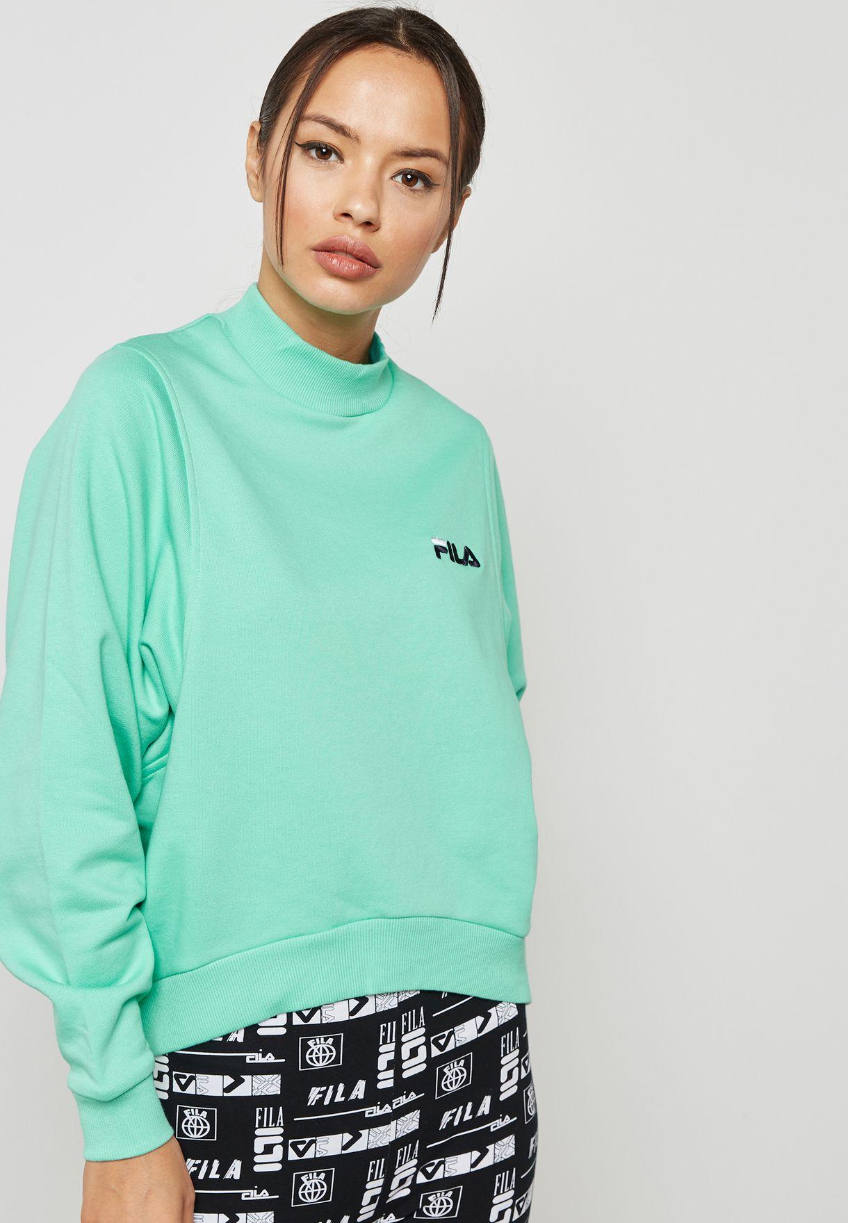 d12680d6df4 Shop Fila green Summer Sweatshirt LW181K41 for Women in UAE ...