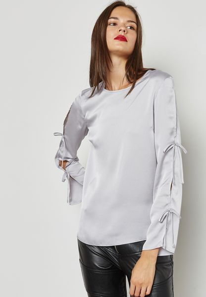Double Tie Sleeve Top