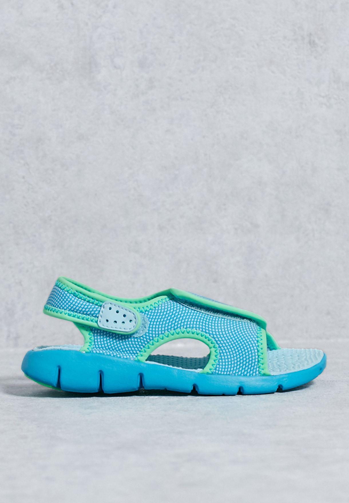 d38d16aae6dd Shop Nike blue Sunray Adjust 4 (Gs Ps) 386520-404 for Kids in UAE ...
