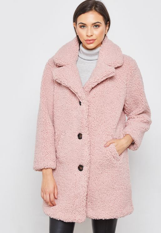 Faux Fur Detail Coat