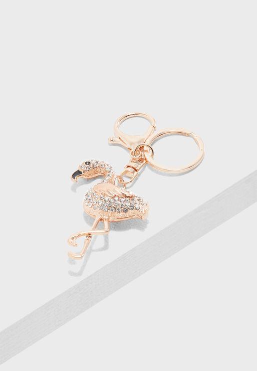 Precious Flamingo Keychain