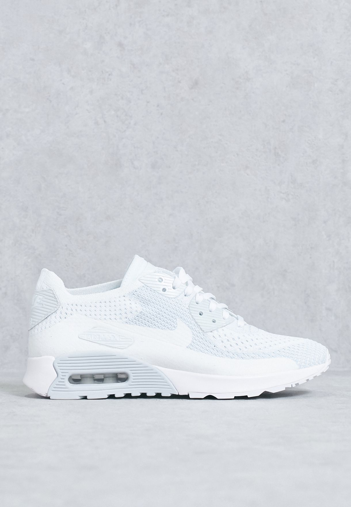 b68e33c9c58 Shop Nike white Air Max 90 Ultra 2.0 Flyknit 881109-104 for Women in ...
