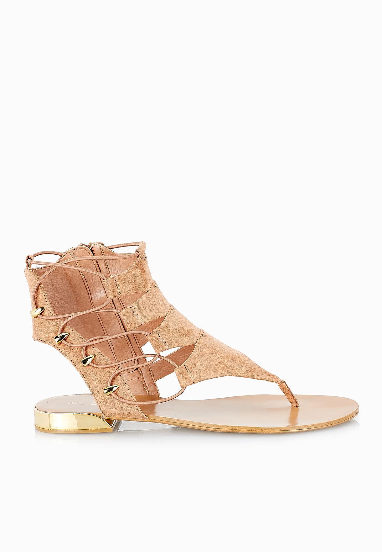 Shop Aldo browns Athena Thong Strappy Sandals for Women in Saudi -  AL729SH53CXM
