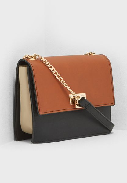 Color Block Chain Crossbody