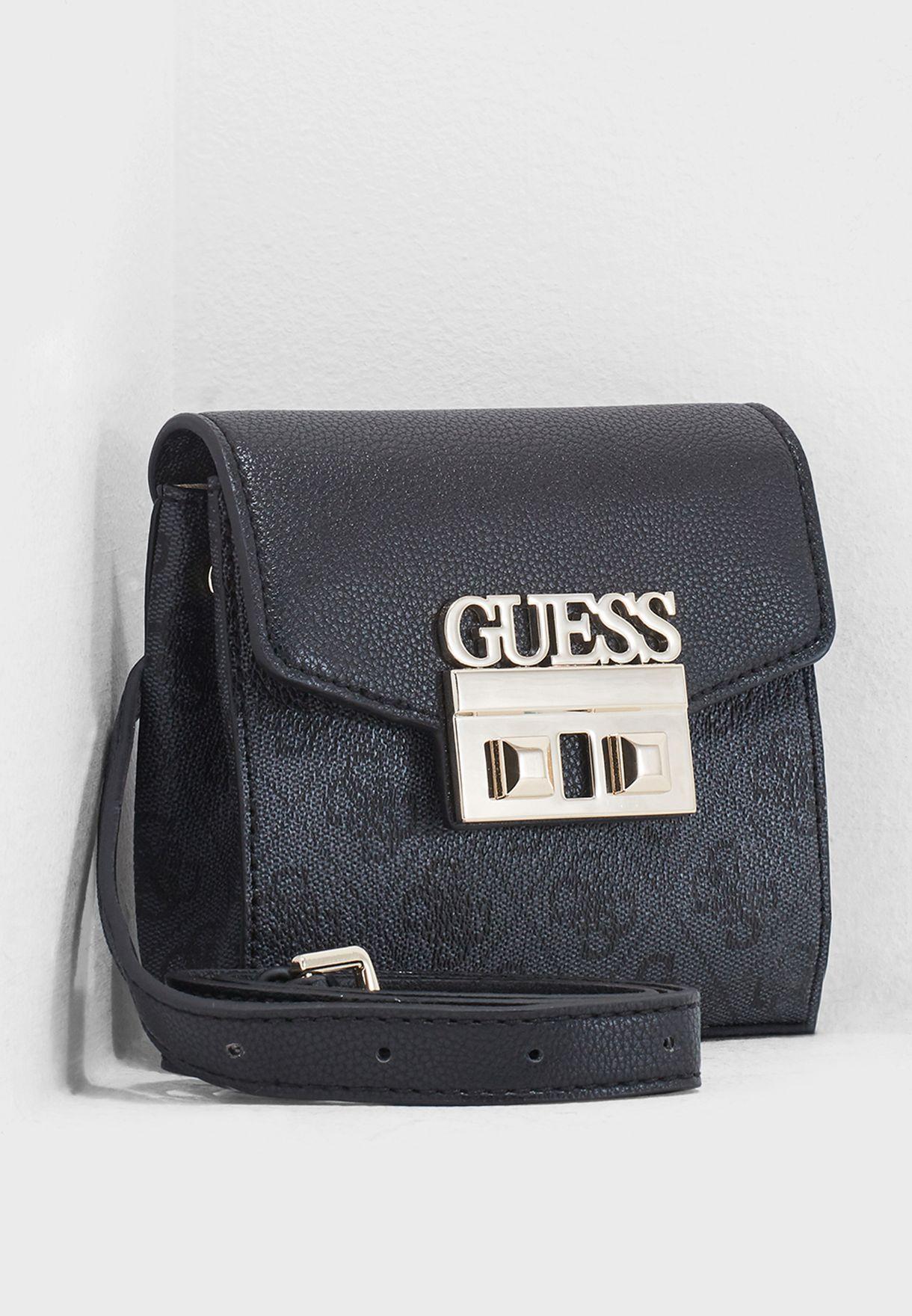 6b9b60c8dd93 Shop Guess black Luxe Bum Bag SG710280COA for Women in UAE ...