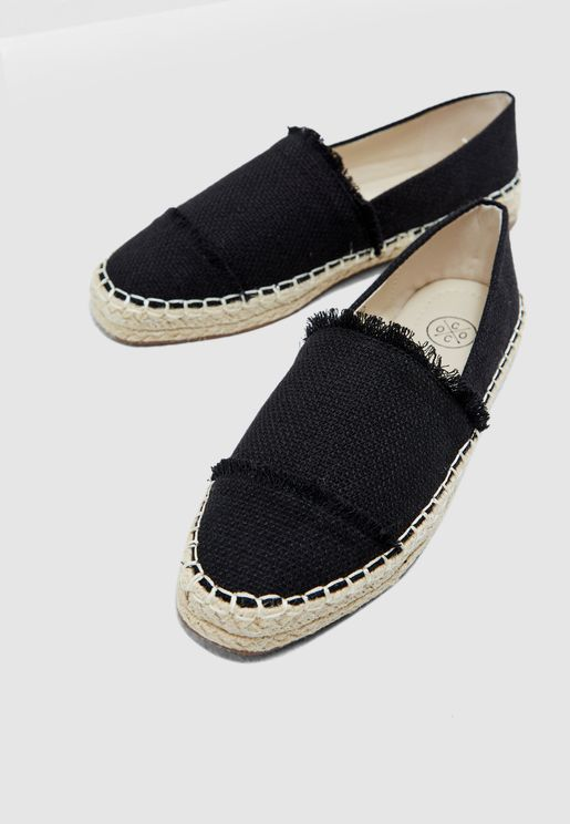 Espadrilles With Fringe Detail