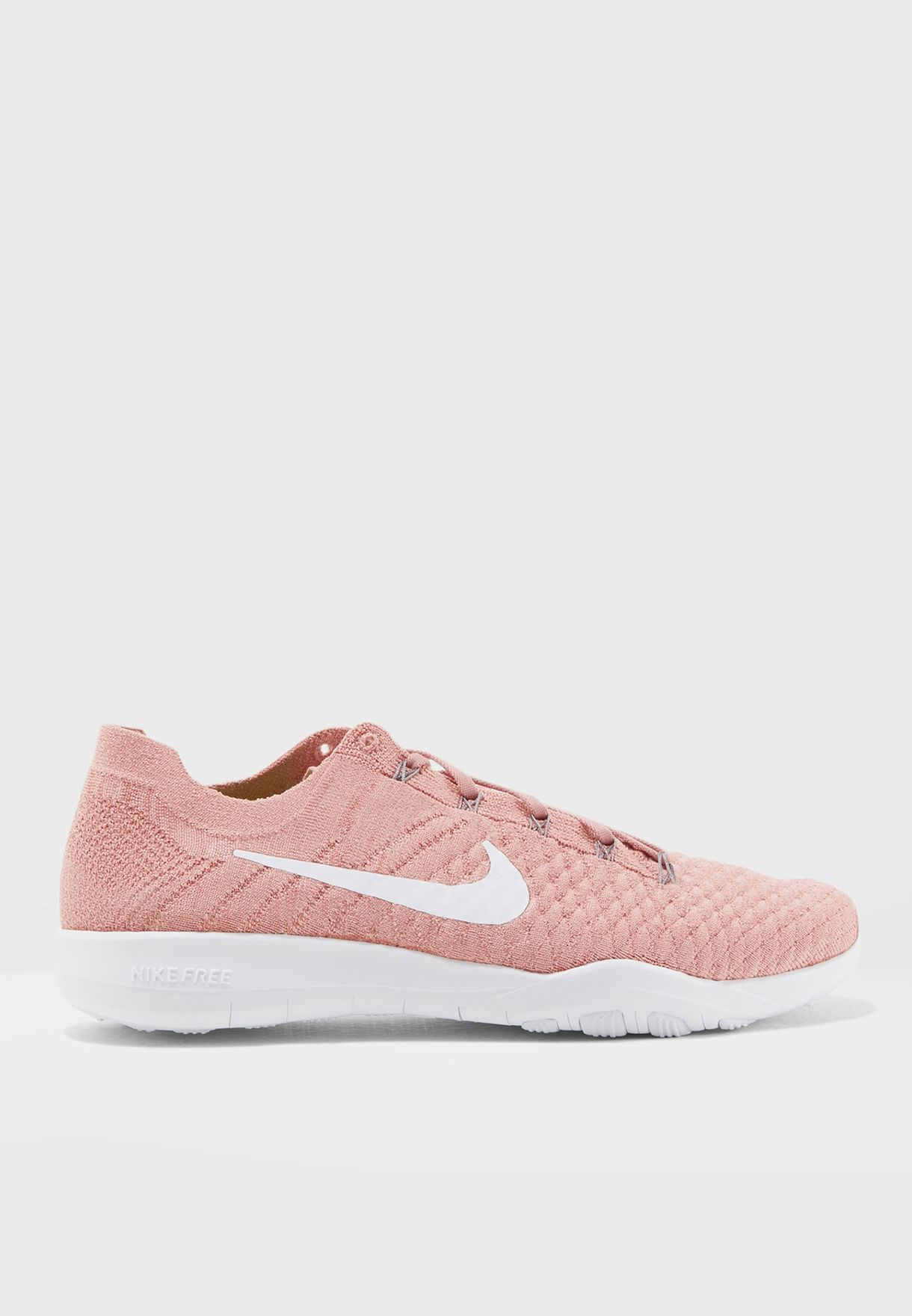 ab156753cb86e Shop Nike pink Free TR Flyknit 2 904658-601 for Women in Qatar ...