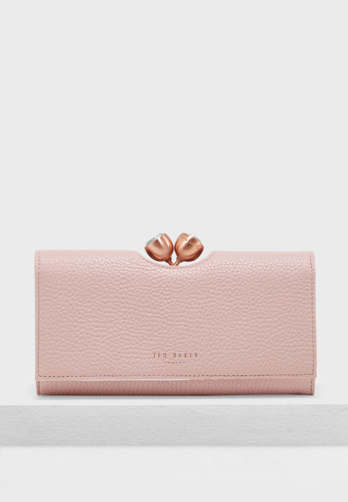 45c59a4bbee Shop Ted baker pink Textured Bobble Matinee Purse 145707 for Women ...
