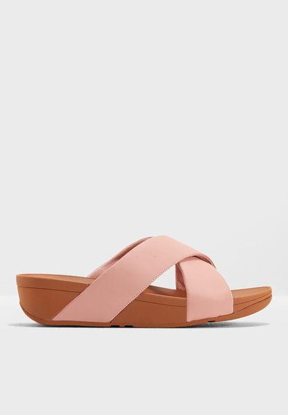 Lulu Cross Slide Sandals