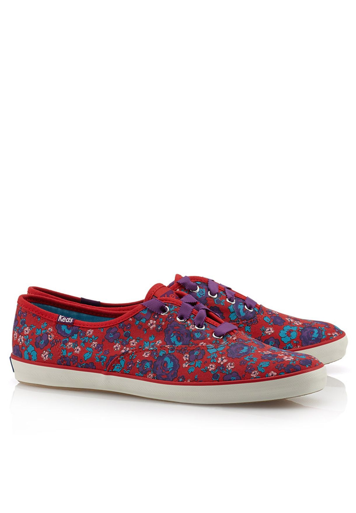 520739599 Shop Keds red Champion Floral OX Sneakers for Women in UAE ...