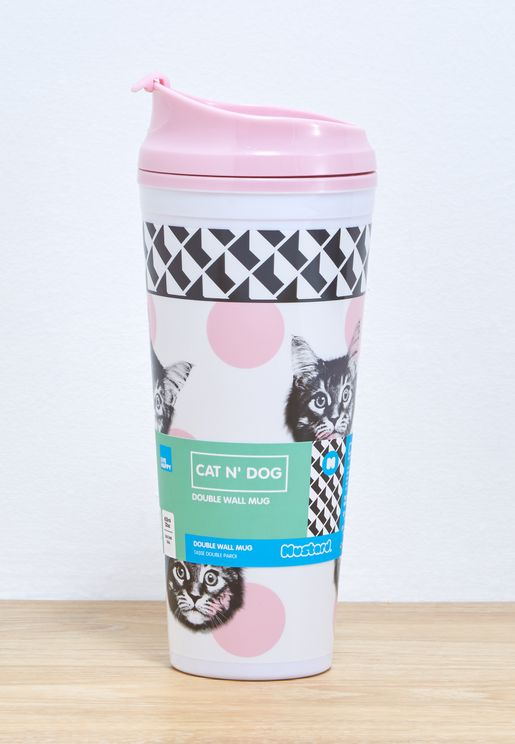 Cat Double Wall Mug
