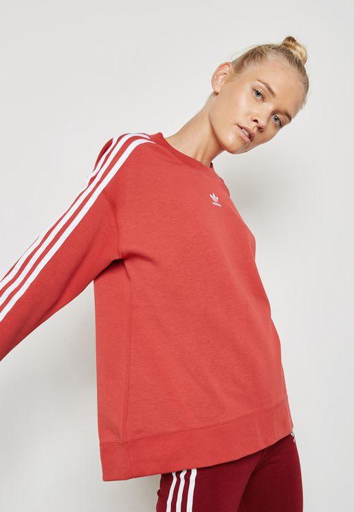 adicolor 3 Stripe Sweatshirt