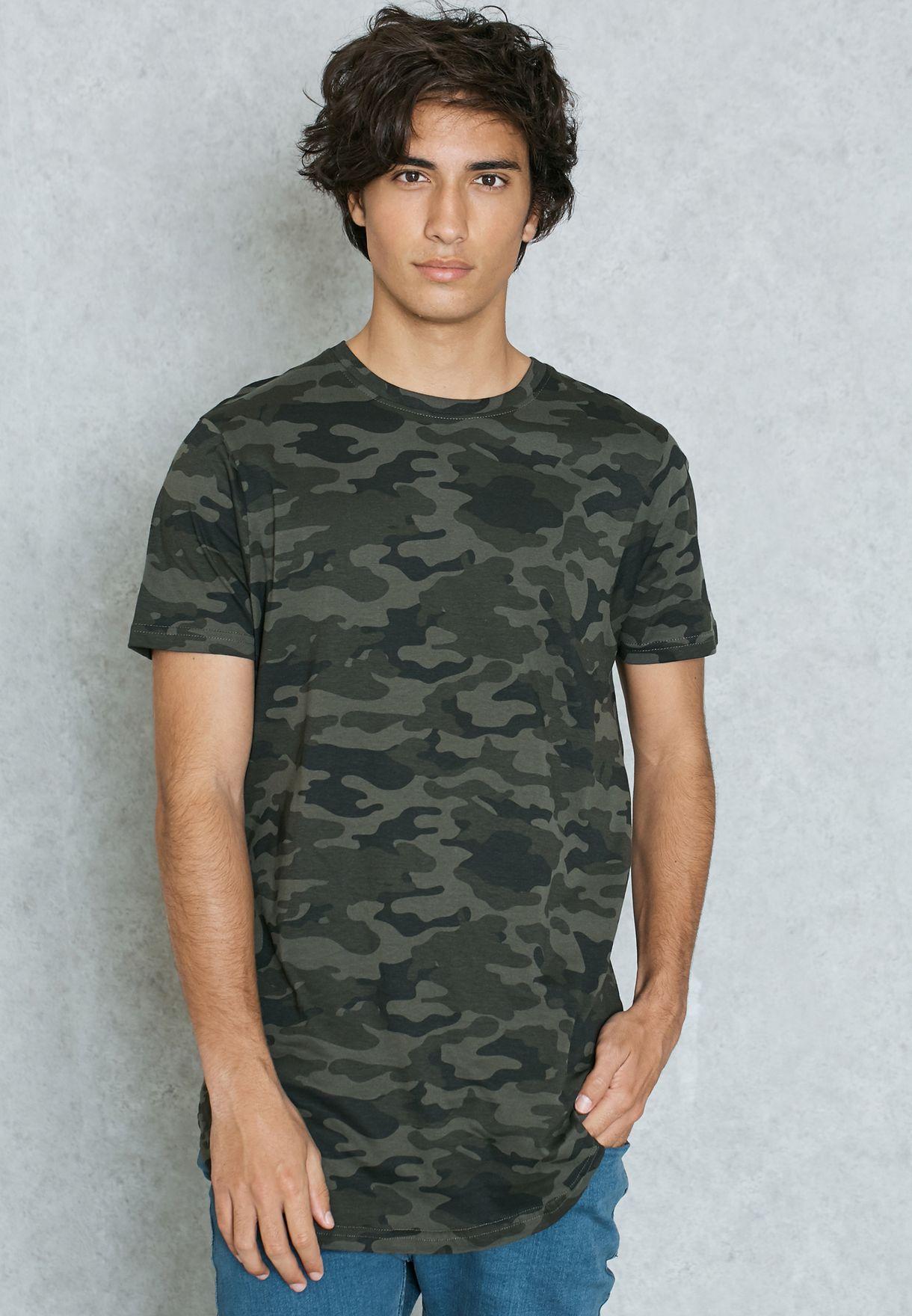 33c5825a Shop Brave Soul prints Kepler Camo Print T-Shirt MTS-149KEPLER for ...