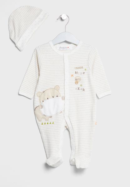 Infant Sleepsuit+Hat