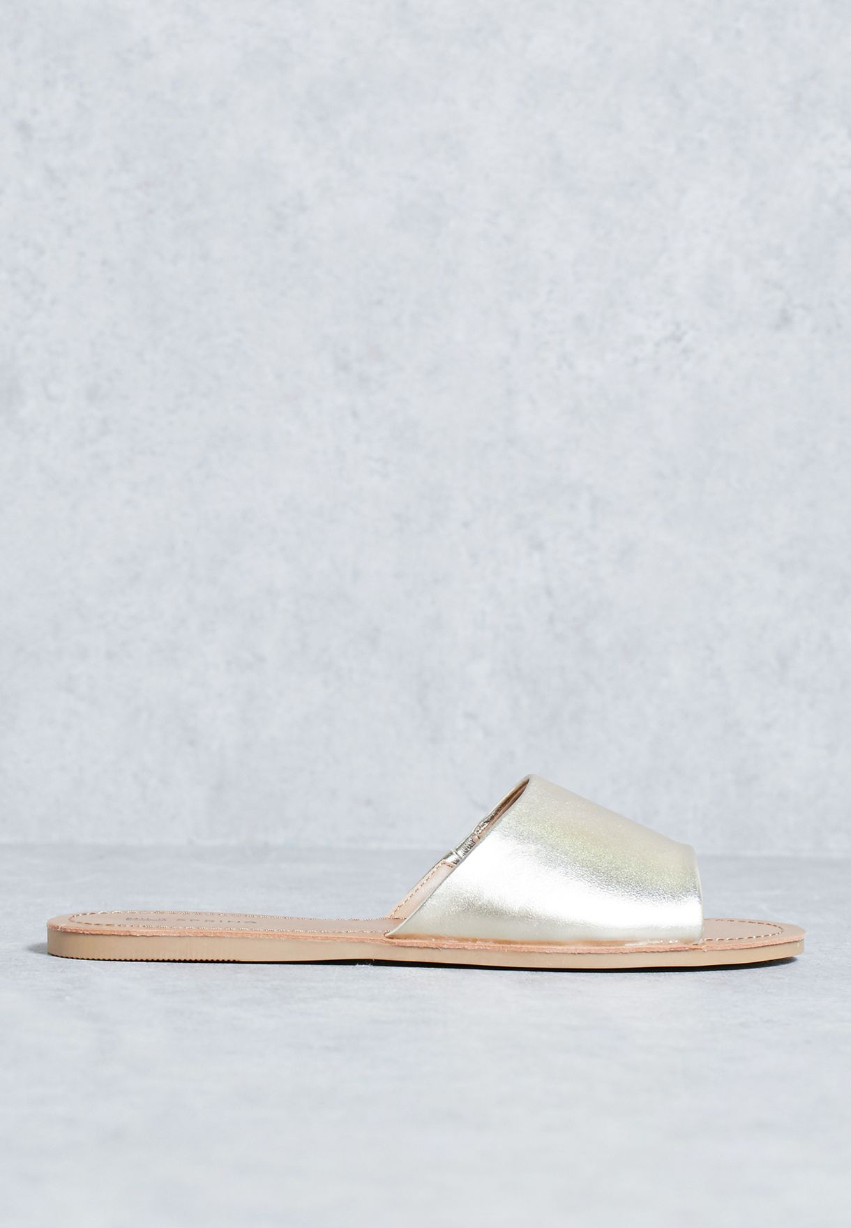 low priced 96663 f9dcd Shop Call it spring gold Mule sandal THIRENIA82 for Women in UAE low-cost